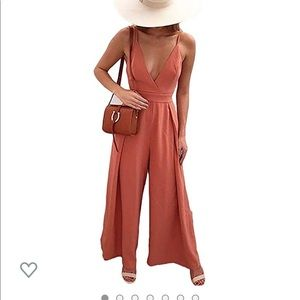 Coral Jumpsuit Size Small